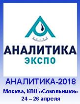 Аналитика 2018 - 16-я Международная выставка лабораторного оборудования и химических реактивов, 24 – 26 апреля 2018 года
