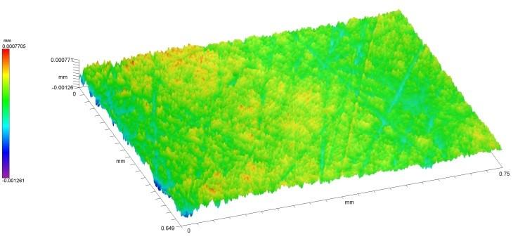 Цифровая модель поверхности образца 1