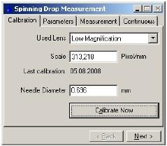 Программное обеспечение тензиометра SITE100 для микроэмульсий