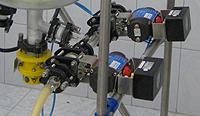 Пневмоклапаны донного слива трестенного стеклянного реактора
