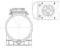 Ёмкости хранения горизонтальные с малой крышкой (Estrella, Швейцария)
