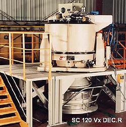 Фильтрующая центрифуга на трех опорах