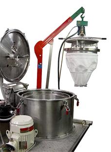 Фильтрующая центрифуга с мешком