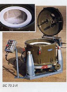 Пилотная центрифуга на трёх опорах