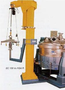 Лифт для выгрузки мешка из центрифуги